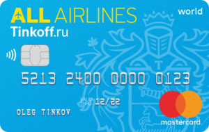 Тинькофф - кредитная карта All Airlines